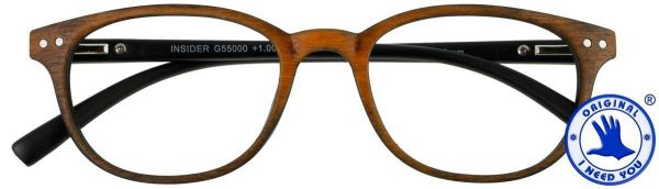 Leesbril INSIDER Bruin
