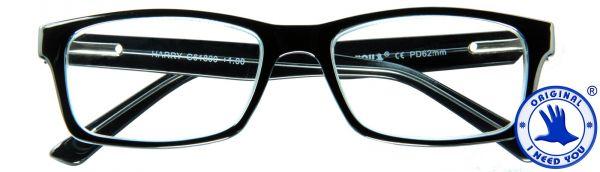 Leesbril Harry - Zwart - Met etui