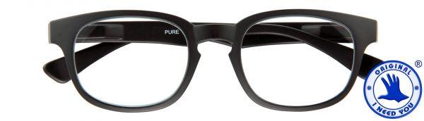 Leesbril Pure - Zwart - Met etui