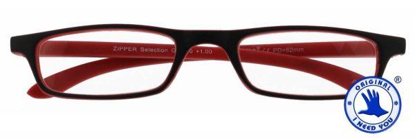 Leesbril ZIPPER SELECTION Zwart - Rood
